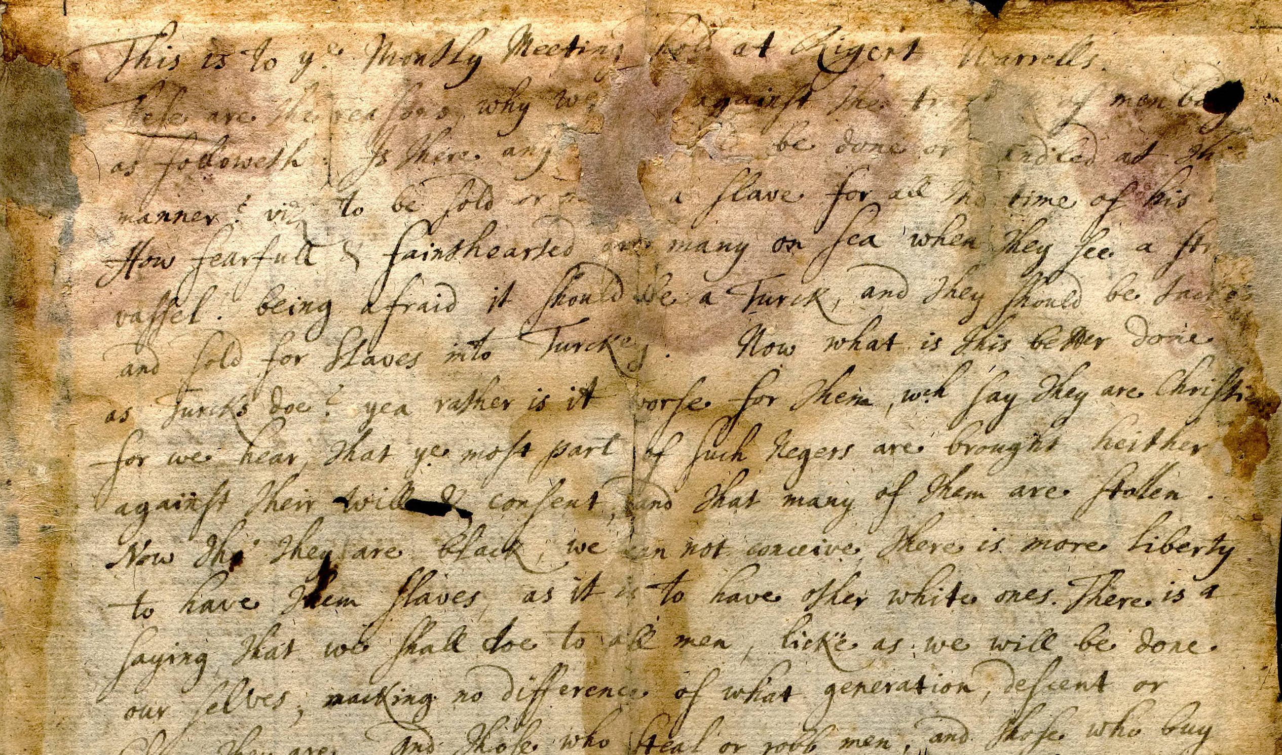 Quakers and Slavery